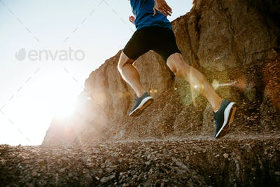 healthy lifestyle middle aged man runner