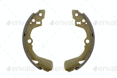 New brake pads drum brake (isolated)