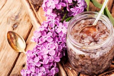 Healing lilac flower jam