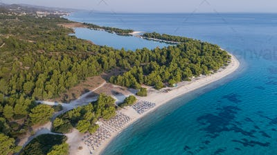 Paragga beach. Halkidiki, Greece