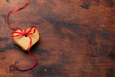 Valentine's day greeting card with cookies
