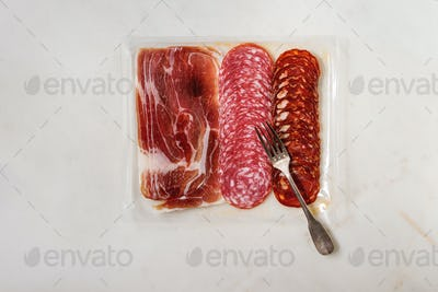 Meat assorti in packaging