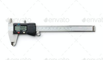 Digital and manual vernier caliper.