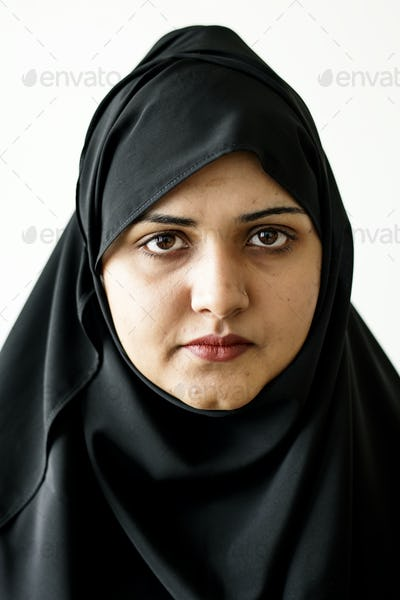 Portrait of a Muslim woman