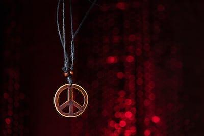Wooden peace symbol