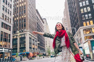 Attractive girl in New York