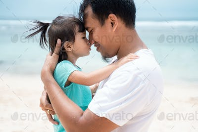 father and his little girl share for love