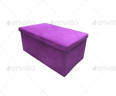 Soft footstool isolated on white background