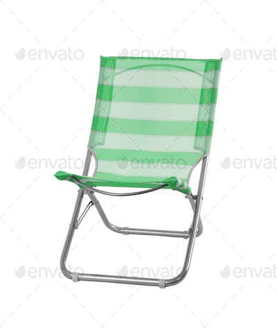 Camp chair isolated on white background