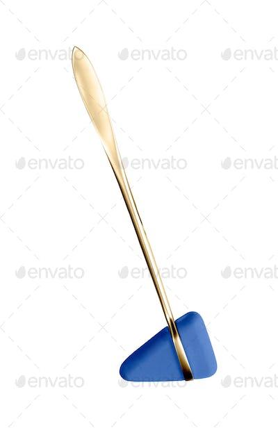 Knee-jerk hammer isolated on white background