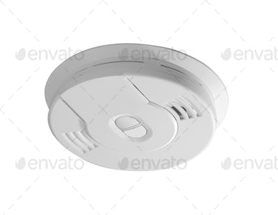 smoke detector isolated on white background