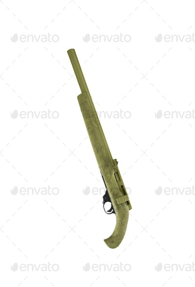 Hunting rifle isolated on white