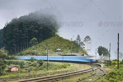 Railroad station in Sri Lanka