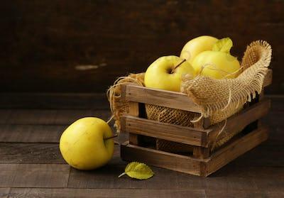 Ripe Yellow Organic Apples