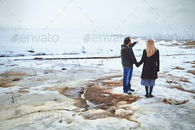 Couple in the Winter Landscape