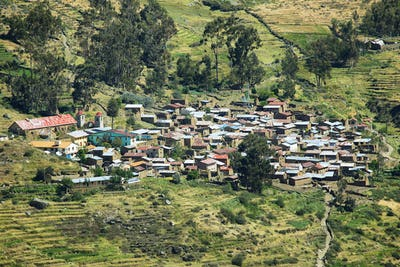 Village of Carania, Peru
