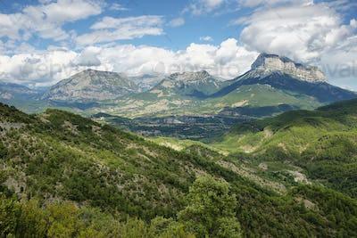 Penya Montanyesa in the Aragonese Pyrenees, Spain.