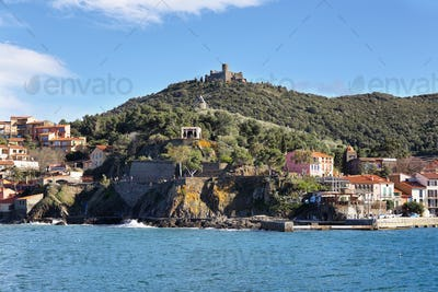 Fort Saint-Elme seen from Collioure, France