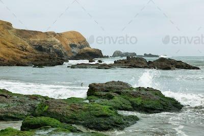 """""""El Faraon or de la Isla"""" beach in Puerto Supe, Barranca province, Peru"""