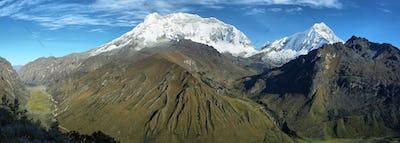 Huascaran peak from Punta Olimpica pass, Peru