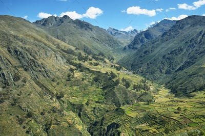 Village of Carania and surroundings, Peru