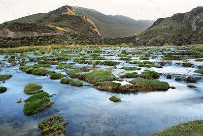Clear waters of Cañete river near Vilca villag, Peru