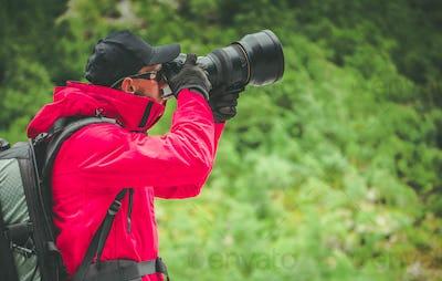Caucasian Nature Photographer