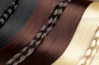 Closeup on luxurious glossy hair