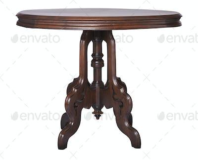 Elegant antique Victorian side table made of walnut