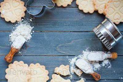 Background of baking gluten free cookies