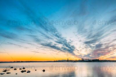 Helsinki, Finland. Panorama Panoramic View Of Suomenlinna Church