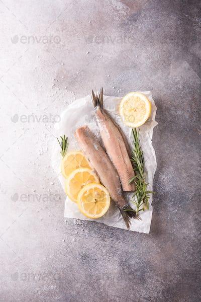 Freshly salted herring