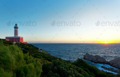 Lighthouse of Capri Island, Italy, Europe