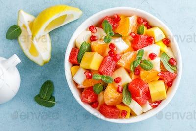 Healthy vegetarian fresh fruit salad