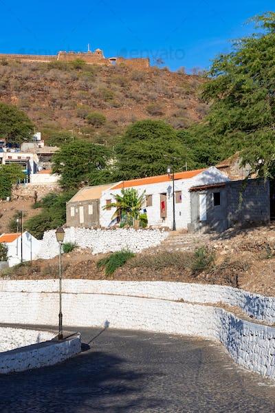 Rua Banana in Cidade Velha city  in Santiago - Cape Verde - Cabo