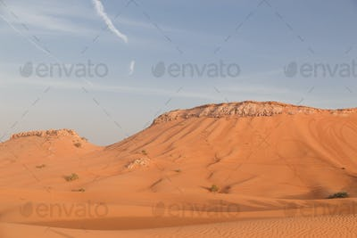 Mountains and dunes in the desert