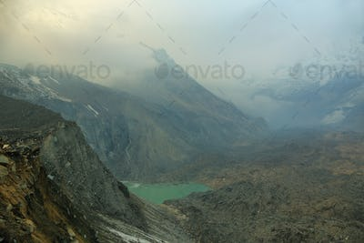 Views from Annapurna base camp sanctuary