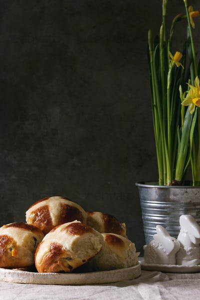 Easter hot cross buns