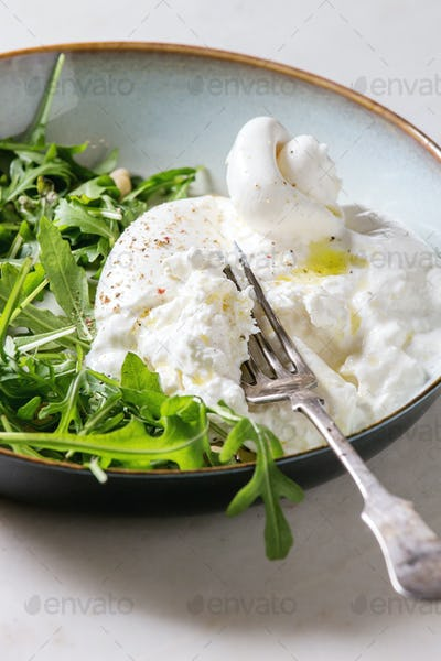 Italian burrata cheese