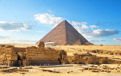 Egyptian pyramid in desert