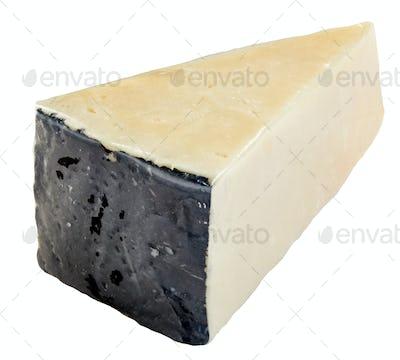 Slice of Pecorino Romano cheese