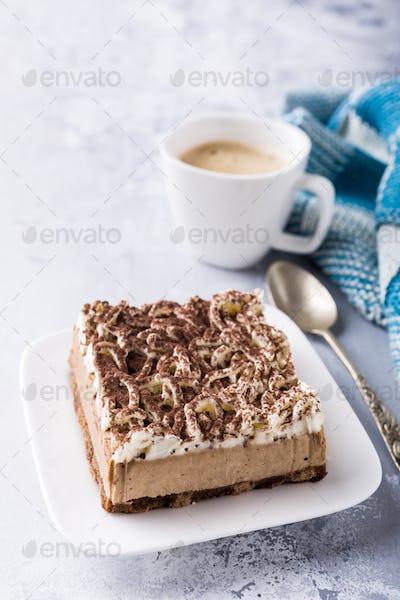 Portion of semifreddo cake
