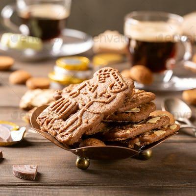 Dutch holiday Sinterklaas festive breakfast