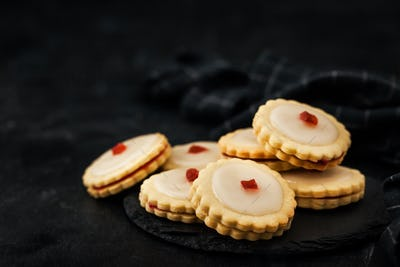 Empire shortbread sandwich cookies