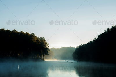 Pang oung reservoir at morning