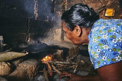 Old home kitchen in Sri Lanka