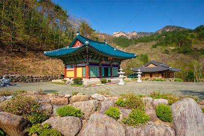 Sinheungsa temple in Seoraksan National Park, Soraksan, South Korea