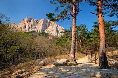 Ulsanbawi rock in Seoraksan National Park, South Korea