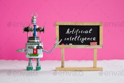 Artificial intelligence and machine learning concept.