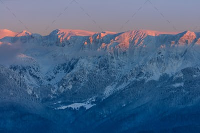 sunset in Bucegi Mountains, Romania